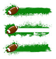 rugby balls with grunge strokes icons set vector image