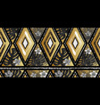 seamless black white and golden tropical vector image vector image