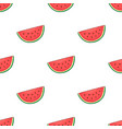 seamless pattern with watermelon slice vector image vector image