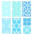 set christmas pattern vector image