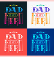 set dad super hero doodle quote in handwritten vector image vector image