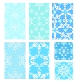 Set of Christmas pattern vector image vector image