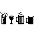 set of food icons in pixel style vector image vector image