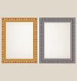set of wooden vintage frame vector image