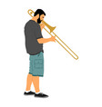 trombone player music man play trumpet jazz vector image