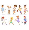 Various sports people vector image