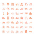 vehicle icons vector image vector image
