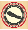 Vintage label-sticker cards of Nepal vector image
