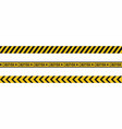 warning tapes seamless hazard stripes texture vector image vector image