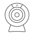 web camera thin line icon electronic and digital vector image vector image