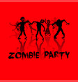 zombie party background vector image