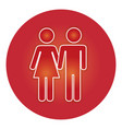 couple gender silhouette isolated icon vector image