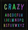 handwritten alphabet uppercase letters isolated vector image