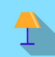 lamp icon on the blue background with long shadow vector image