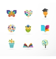 Education icons elements set vector image