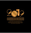 2019 happy new year background for flyers and vector image vector image