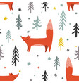 a winter forest seamless vector image vector image