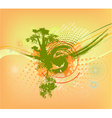 abstract colorful background with tree vector image vector image