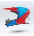 abstract motorcycle helmet vector image