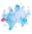 Abstract watercolor aquarelle hand drawn colorful vector image vector image