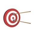 Arrows Hitting A Target vector image vector image