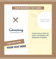 baseball bat company brochure template busienss vector image vector image
