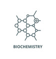 biochemistry line icon linear concept vector image vector image