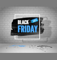 black friday sale grunge banner frame shopping tag vector image