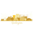 burlington iowa skyline golden silhouette vector image vector image