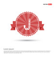 candy cane icon - red ribbon banner vector image