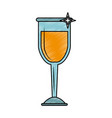 champagne glass cup scribble vector image vector image