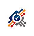 chip verified logo design template vector image