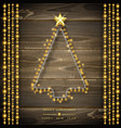 christmas tree made of christmas lights glowing vector image vector image