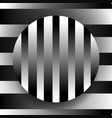 contrasty black and white with circle over vector image