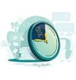 deadline business concept cartoon vector image vector image