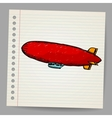 Dirigible Doodle style vector image vector image