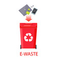 e-waste poster with headline vector image vector image