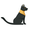Egyptian black cat ancient religious symbol