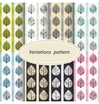 flower patterns set vector image vector image