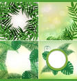 four different frames with leaves and vines vector image vector image