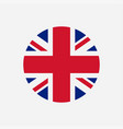 great britain flag union jack round logo vector image vector image