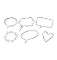 grunge hand drawn speech bubbles vector image vector image