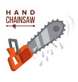 hand chainsaw petrol chain saw vector image vector image