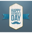 Happy Fathers Day realistic Poster with Ribbon vector image vector image