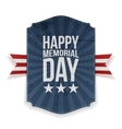 happy memorial day festive poster and ribbon vector image