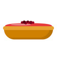 holiday cake icon flat style vector image vector image