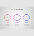 infographics design business concept with vector image vector image