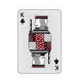 king of clover or clubs french playing cards vector image vector image
