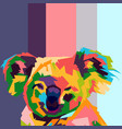 koala face pop art vector image vector image