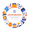 law enforcement - flat design style banner vector image vector image